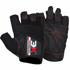 Black Weight Lifting Gloves Bodybuilding Fitness Exercise Gym Workout 3XSports
