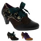 Womens Poetic Licence End Of Story Mid Heel Floral Lace Up Mary Janes UK 3.5-8.5