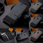 For Huawei P10 P20 Lite/Mate 10 Lite Leather Case Canvas Magnetic Wallet Cover