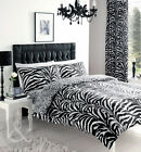 Black & White Zebra Print Duvet Cover - Luxury Bedding Bed Set
