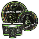 Gamer, Video Games, Geek, Computer Party 7in & 9in Plates And Cups Pack