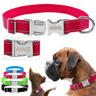 Nylon Personalized Pet Dog Collars Free Engraved Metal Buckle Adjustable