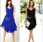 Women's Fashion Beach Chiffon Sleeveless Party Evening Cocktail Short Mini Dress