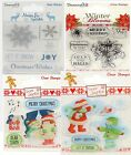Dovecraft Winter Blooms Clear Stamps - Sentiments, Craft Supplies, Brand New