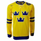 NIKE SWEDEN MENS OFFICIAL NATIONAL ICE HOCKEY FANS SHIRTS SIZES S - M - L - XL