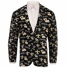 Forever Collectables NFL Men's New Orleans Saints Ugly Business Jacket, Black