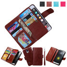 Leather 9 Cards Magnetic Wallet Flip Cover+ Wristlet Case For LG G6/G5/G4/G3