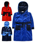 Boys Football Bathrobe New Kids Fleece Hooded Dressing Gown Ages 2-3 3-4 Years