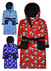 Boys Football Robe New Kids Hooded All Over Print Dressing Gown Ages 7-13 Years
