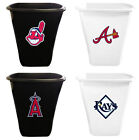 MLB Trash Can White or Black Plastic 5.5 Gal with Baseball Team Logo Vinyl Decal $64.88 USD on eBay
