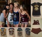 Primark Ladies Hogwarts Harry Potter Pyjamas Cami Vest Shorts Pjs Pajamas Socks