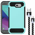 Shockproof Hybrid Cover Bumper Case+Micro USB Cable for Samsung Galaxy J3 2017