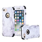 Granite Marble Pattern Shockproof Hybrid Back Cover Case Cute For iPhone 5 5s SE