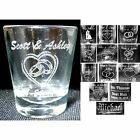 Case of 72 - Personalized Round Shot Glasses Custom Engraved Wedding Party Gifts