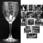 Set of 2 Personalize Wine Glasses Laser Engraved Wedding Party Gifts Bridesmaids