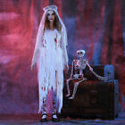Adult Womens Sexy White Corpse Bride Halloween Cosplay Party Costume Dresses UK