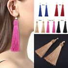 Chic Women Girl Fashion Weave Tassel Earrings Boho Long Drop Earrings Jewelry