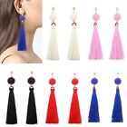 Vintage Women Bead String Tassel Drop Stud Earrings Ladies Fashion Jewelry Gift