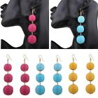 Elegant Lady Charm Bead Tassel Pendant Drop Statement Dangle Women Boho Earrings
