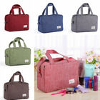 Solid Colors Frosted Cloth Zipper Storage Package Travel Small Handbag