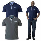 Duke D555 Mens Jagger Big Tall King Size Designer Polo Shirt Woven Pique Top