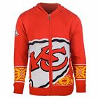 Forever Collectibles NFL Men's Kansas City Chiefs Full Zip Hooded Sweater, Red