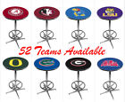 NCAA Chrome Pub Tables w/ Foot Ring Base - HQ Commercial Grade - 52 Teams