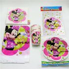 81pcslot Cartoon Tissues Minnie Mouse Plates Birthday Party Cups napkins dishes