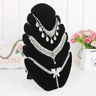 Jewelry Pendant Chain Necklace Display Holder Stand Velvet Easel Organizer Rack