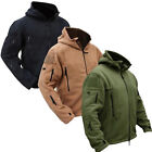 Mens Zip up Winter Hiking Hooded Army Tactical Army Fleece Coats Jacket Outwear