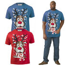 Duke D555 Mens Rudy Big Tall King Size Novelty Lights & Sound Christmas T Shirt