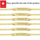 Personalized Gold Name Plate Id Bracelets for Name Plate Bracket