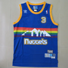 New Denver Nuggets #3 Allen Iverson Retro Mesh (Blue) Jersey Size: S - XXL