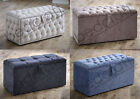 Upholstered Diamond Ottoman Storage Box / Toybox Various Colours & Fabrics
