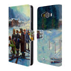 OFFICIAL LONELY DOG CHRISTMAS LEATHER BOOK WALLET CASE FOR SAMSUNG PHONES 2