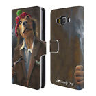 OFFICIAL LONELY DOG PORTRAITS LEATHER BOOK WALLET CASE FOR SAMSUNG PHONES 2