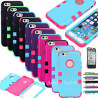 For Apple iPhone 6 6S Shockproof Protective Compound Hard Thin Case Cover