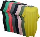 New Italian Lagenlook Ladies Womens Frill Sleeve Tunic top dress Plus Size 16-24
