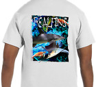 Dry Blend UPF Short Sleeve Shark Sailfish Turtle Fishing T-Shirt Athletic Fit