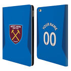CUSTOM WEST HAM UNITED FC 2017/18 PLAYERS KIT LEATHER BOOK CASE FOR APPLE iPAD