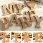 Freestanding Wood Wooden A-&-Z Letters Alphabet Decor 15MM Thick! 10CM High GIFT