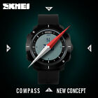 Mens Sport Compass Countdown Led Digital Wristwatch 5ATM Military Army Watch