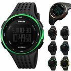 Men Women Sport LED Digital Watch 5ATM Countdown Alarm Military Date Wristwatch