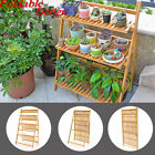 Indoor Outdoor Wooden Garden Shelf Decor Flower Plant Display Storage Stand Rack
