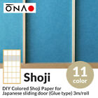 DIY Colored Shoji paper forJapanese sliding door(Glue type) 3m/roll