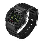 Men's Led Date Digital Alarm Watch Waterproof Military Sports Student Wristwatch