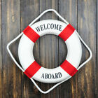 Welcome Aboard Nautical Life Ring Lifebuoy Boat Wall Hanging Home Decor 1 Pcs