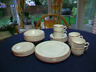 Wedgwood metallised bone china white with gold trim ( side, cups & saucers,bowls