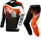 Oneal Element 2018 Racewear Youth Motocross Jersey & Pants Black Orange Kit Set