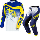 Oneal Element 2018 Racewear Youth Motocross Jersey & Pants Blue Yellow Kit Kids